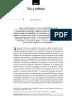 """Chaui, Marilena, """"Ética y violencia"""". Nueva Sociedad Nº 163. Octubre de 1999."""