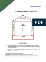 Building a Safe School Checklist