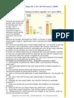 População Brasileira Segundo a Cor da Pele, para o IBGE