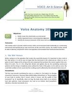 Voice Anatomy 101