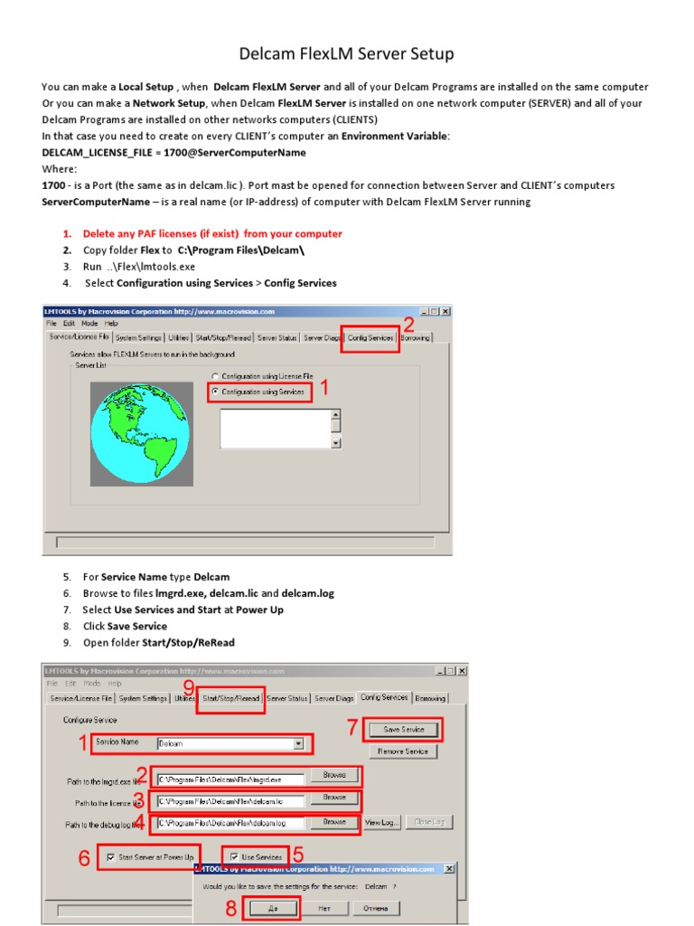Delcam FlexLM Server Setup pdf