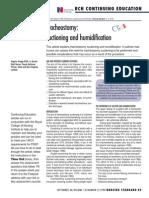Tracheostomy Suctioning and Humidification