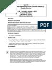 MPRWA Regular Meeting Agenda Packet 08-08-13