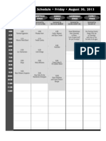 2013 Rhythm & Roots Schedule