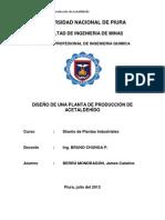 DISEÑO DE UNA PLANTA DE PRODUCCÍON DE ACETALDEHÍDO
