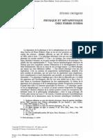 Boutot, Alain - Physique et métaphyisique chez Pierre Duhem (1994)