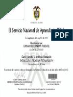 CERTIFICADO INDUCCION A PROCESOS PEDAGÓGICOS
