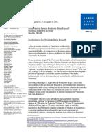 Carta Da Human Rights Watch