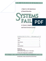 Systems Failure Executive Summary