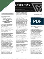 December 2007 CLGRO Newsletter