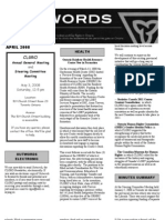 April 2008 CLGRO Newsletter