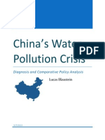 China's Water Pollution Crisis - Diagnosis and Comparitive Policy Analysis by Lucas Blaustein