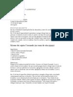Mousse de Cajeta y Almendras