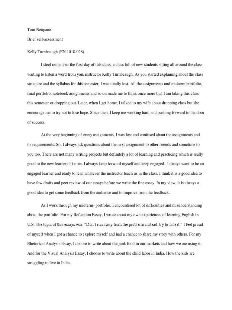 Thesis Statement Essay  Topics For English Essays also English Sample Essays Selfassessment  Bhutan  Essays English Essay Introduction Example