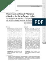 Una mirada crítica al vitalismo cósmico de Darío Botero Uribe-Damián Pachón Soto 2