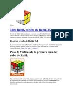 Solucion Cubo Rubik 2x2x2