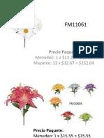 Catálogo flor artificial FM