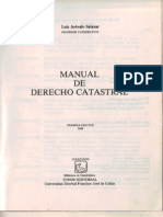 Manual de Derecho Catastral