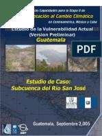 Vulnerabilidad Actual Cuenca Río San Jose