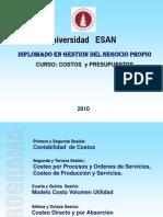 Costos y Presupuestos Sesion 1 y 2