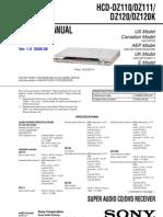Hcd-dz110, Dz111,Dz120 Dz120k Ver1.4