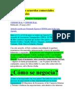 1. El Perú y los acuerdos comerciales internacionales