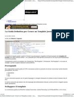 Guida Completa Creare Template Joomla