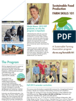 Farm Skills 101 Fall 2013 Brochure