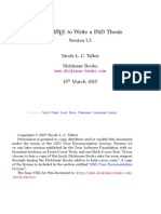 Using LATEX to Write a PhD Thesis
