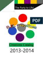 D.M. Creations Catalog 2013-2014