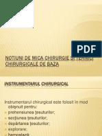 Notiuni de Mica Chirurgie Si Tehnici Chirurgicale I