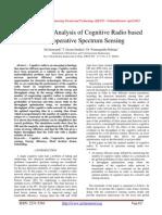 Performance Analysis of Cognitive Radio based on Cooperative Spectrum Sensing