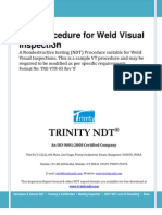 NDT Weld Visual Inspection Procedure Free Download