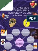 FACTORES QUE DETERMINAN LA RESPUESTA DE LOS FÁRMACOS