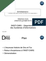 SVNWebAdmin, une interface Web d'administration de dépôts SVN indépendants