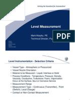 Level Measurement ISA