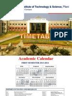 BITS Timetable First Sem 2013-14
