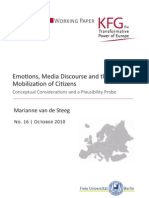 Emotions, Media Discourse and the Mobilization of Citizens. Conceptual Considerations and a Plausibility Probe