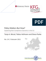 Policy Matters But How? Explaining Non-Compliance Dynamics in the EU