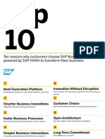 SAP TopTen Suite on HANA