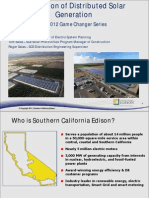 Integration of Distributed Solar Generation. 2012 Game Changer Series Webinar