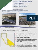 Integration of Distributed Solar Generation. 2012 Game Changer Series Webinar