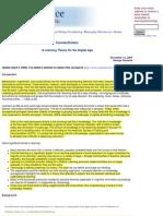 2005 Siemens ALearningTheoryForTheDigitalAge