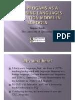 SMALA CLIL Programs in Schools