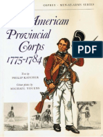 MAA 001 the American Provincial Corps 1775-1784