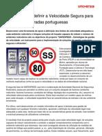 SAFESPEED- Definir a Velocidade Segura Para Circular Nas Estradas Portuguesas