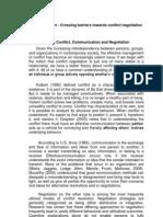 Crossing Boundaries of Communication Towards Effective Conflict Negotiation