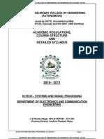 Lakkireddybalreddi-m.tech_ece - Systems and Signal Processing_syllabus