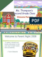 Thompson Parent Night