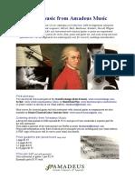 Amadeus Music / sheet music price list